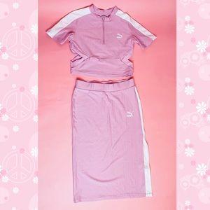 Puma pink matching skirt set 🌸